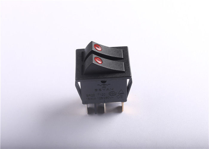 Double Micro Rocker Switch With Copper / Compound Silver Contact Material