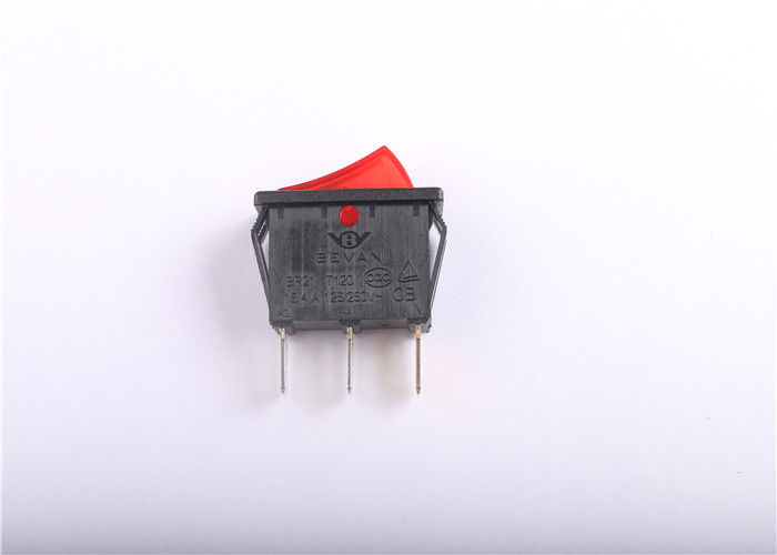 3 Way Illuminated Rocker Switch Heat Resistant With Silver Contact Points Inside